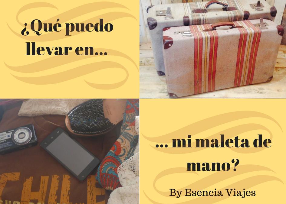 ¿Qué puedo llevar en mi maleta de mano?