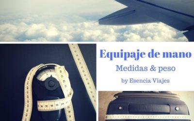 Medidas y peso del equipaje de mano